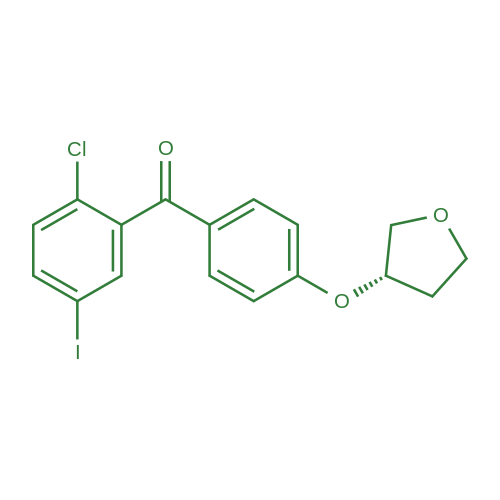 (S)-(2-Chloro-5-iodophenyl)(4-((tetrahydrofuran-3-yl)oxy)phenyl)methanone