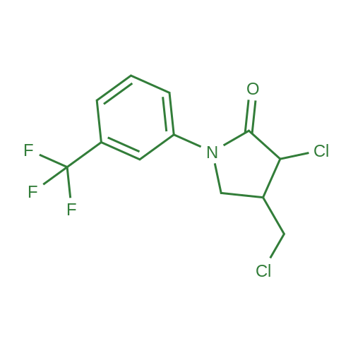 3-Chloro-4-(chloromethyl)-1-(3-(trifluoromethyl)phenyl)pyrrolidin-2-one