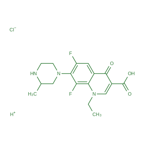 Lomefloxacin hydrochloride
