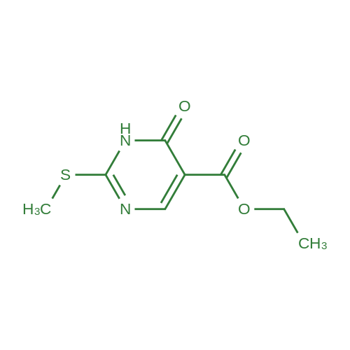 Ethyl 2-(methylthio)-6-oxo-1,6-dihydropyrimidine-5-carboxylate
