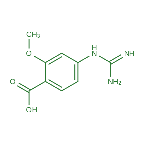 4-Guanidino-2-methoxybenzoic acid