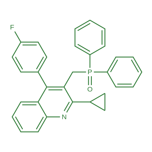 2-Cyclopropyl-3-[(diphenylphosphinyl)methyl]-4-(4-fluorophenyl)quinolin