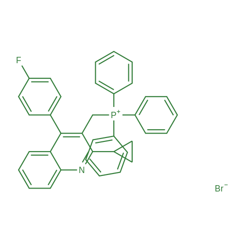 ((2-Cyclopropyl-4-(4-fluorophenyl)quinolin-3-yl)methyl)triphenylphosphonium bromide