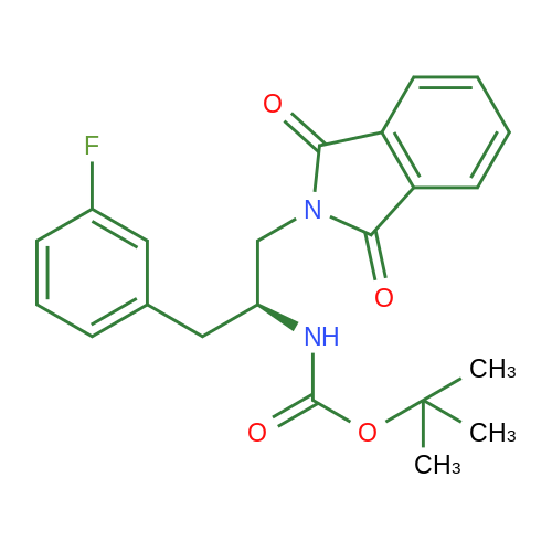 (S)-tert-Butyl (1-(1,3-dioxoisoindolin-2-yl)-3-(3-fluorophenyl)propan-2-yl)carbamate