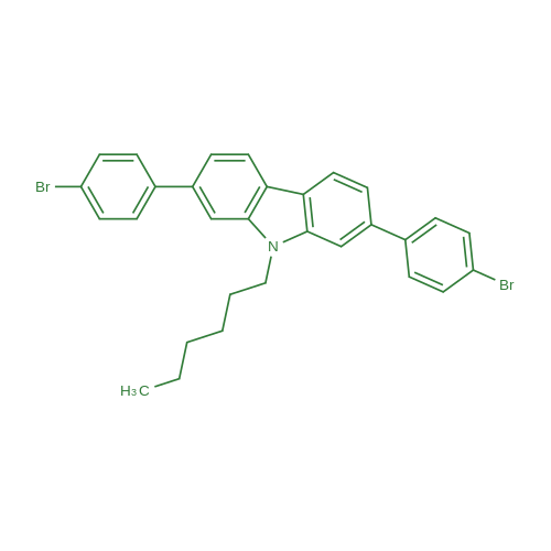2,7-Bis(4-bromophenyl)-9-hexyl-9H-carbazole