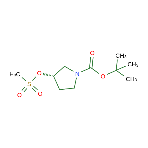 (S)-tert-Butyl 3-((methylsulfonyl)oxy)pyrrolidine-1-carboxylate