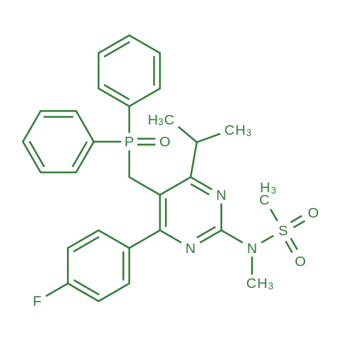 N-(5-((Diphenylphosphoryl)methyl)-4-(4-fluorophenyl)-6-isopropylpyrimidin-2-yl)-N-methylmethanesulfonamide