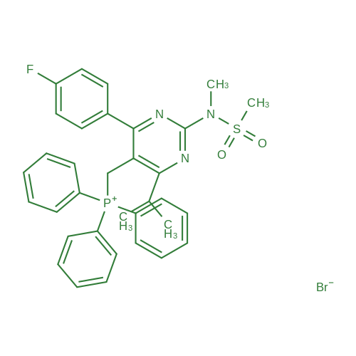 ((4-(4-Fluorophenyl)-6-isopropyl-2-(N-methylmethylsulfonamido)pyrimidin-5-yl)methyl)triphenylphosphonium bromide