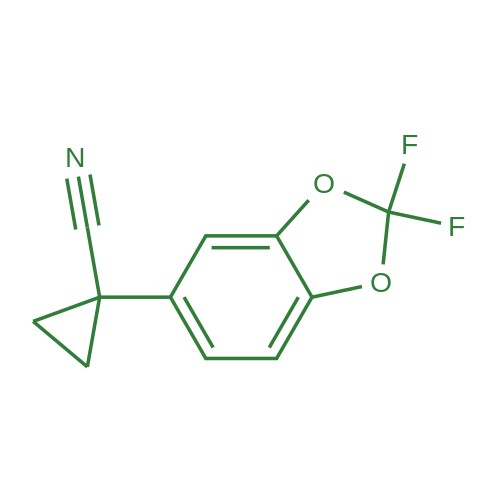 1-(2,2-Difluorobenzo[d][1,3]dioxol-5-yl)cyclopropanecarbonitrile