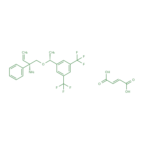 (S)-1-((R)-1-(3,5-Bis(trifluoromethyl)phenyl)ethoxy)-2-phenylbut-3-en-2-amine fumarate