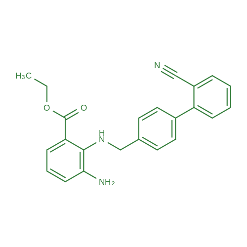 Ethyl 3-amino-2-(((2'-cyano-[1,1'-biphenyl]-4-yl)methyl)amino)benzoate