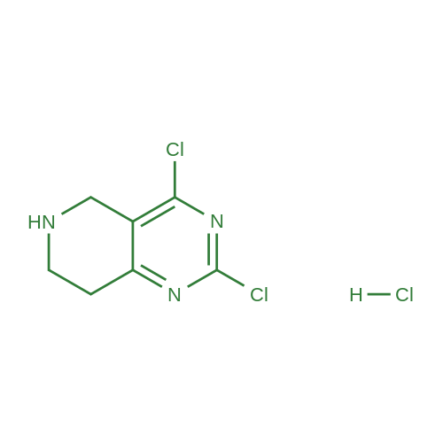 2,4-Dichloro-5,6,7,8-tetrahydropyrido[4,3-d]pyrimidine hydrochloride