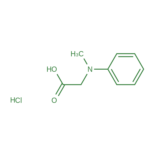 2-(Methyl(phenyl)amino)acetic acid hydrochloride