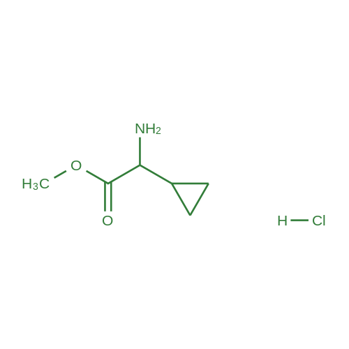 Methyl 2-amino-2-cyclopropylacetate hydrochloride