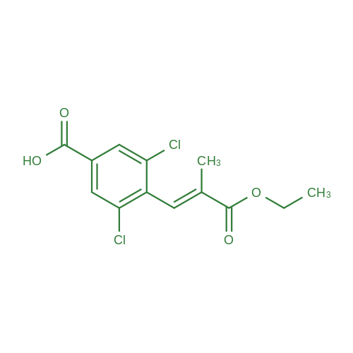 (E)-3,5-Dichloro-4-(3-ethoxy-2-methyl-3-oxoprop-1-en-1-yl)benzoic acid